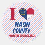 El condado de Nash, Carolina del Norte Etiqueta