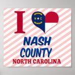 El condado de Nash, Carolina del Norte Poster