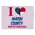 El condado de Nash, Carolina del Norte Tarjeton