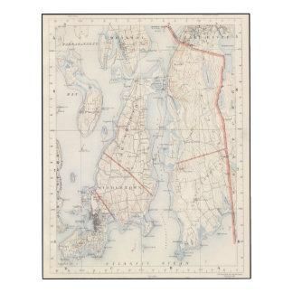 El condado de Newport, Rhode Island Impresión En Madera