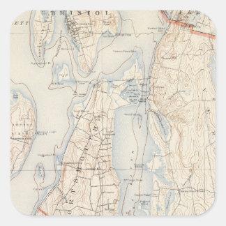 El condado de Newport, Rhode Island Pegatina Cuadrada