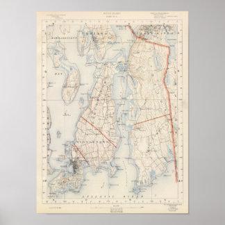 El condado de Newport, Rhode Island Póster