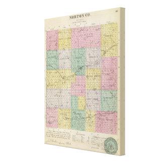 El condado de Norton, Kansas Impresión En Lienzo