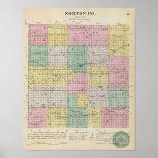 El condado de Norton, Kansas Póster