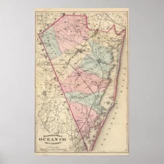 El condado de Ocean, NJ Póster