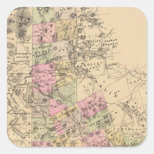El condado de Oxford, Maine Calcomanía Cuadradas Personalizadas