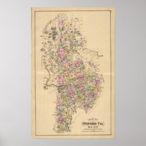 El condado de Oxford, Maine Poster