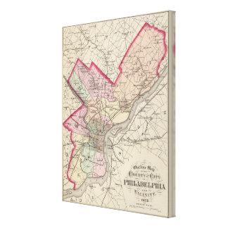 El condado de Philadelphia, ciudad Impresión En Lona Estirada