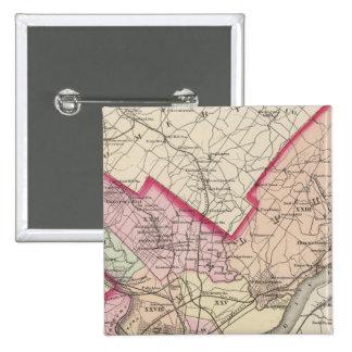 El condado de Philadelphia, ciudad Pin Cuadrada 5 Cm
