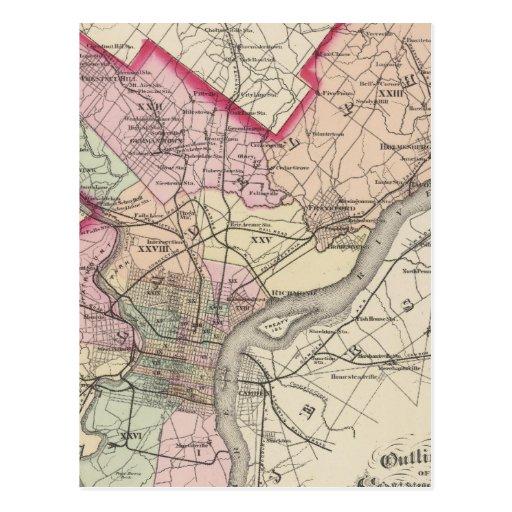 El condado de Philadelphia, ciudad Postales