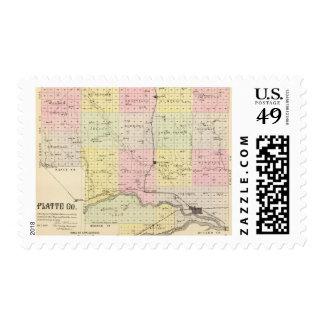 El condado de Platte, Nebraska Sellos Postales