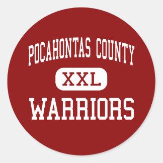 El condado de Pocahontas - guerreros - alto - Dunm Etiquetas