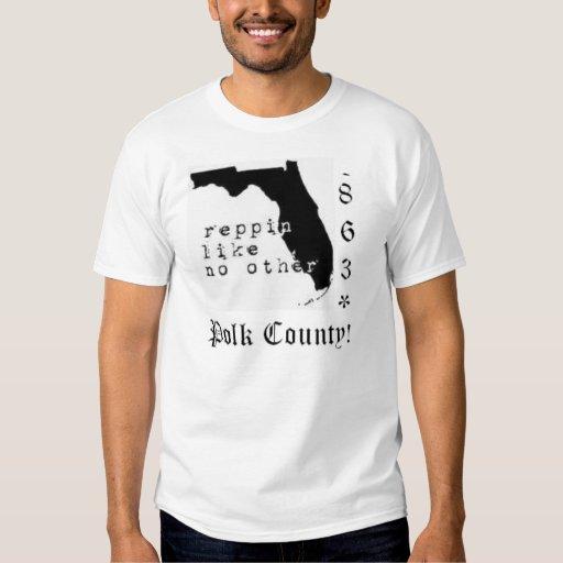 el condado de Polk /863 camiseta Polera