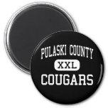 El condado de Pulaski - pumas - alto - Dublín Virg Imán Para Frigorífico