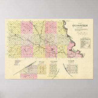 El condado de Richardson, Nebraska Póster