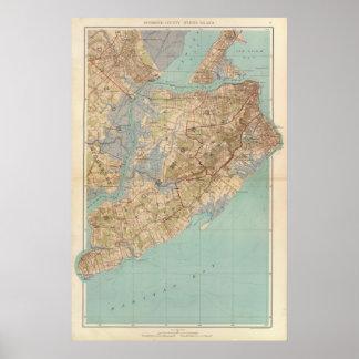 El condado de Richmond y Staten Island Póster