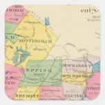 El condado de Rockingham, NH Pegatina Cuadrada