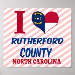 El condado de Rutherford, Carolina del Norte Posters