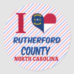 El condado de Rutherford, Carolina del Norte Etiqueta Redonda