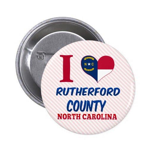 El condado de Rutherford, Carolina del Norte Pin