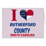 El condado de Rutherford, Carolina del Norte Tarjetón