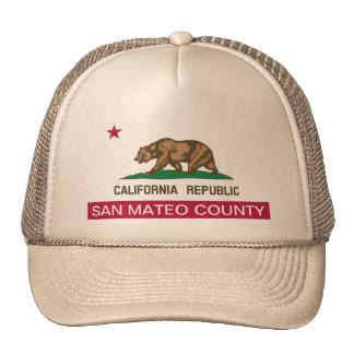 El condado de San Mateo California Gorras De Camionero