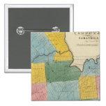 El condado de Saratoga Pin Cuadrada 5 Cm