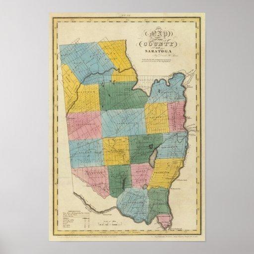 El condado de Saratoga Póster