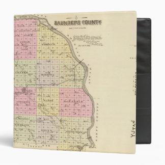 "El condado de Saunders, Nebraska Carpeta 1 1/2"""