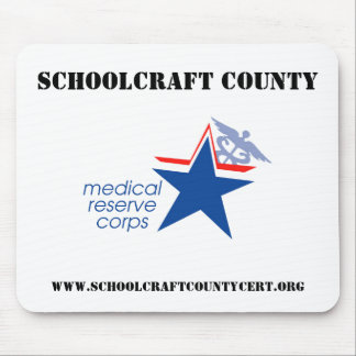 El condado de Schoolcraft MRC Mousepad Alfombrillas De Raton