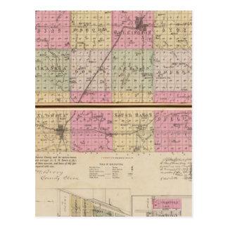 El condado de Sedgwick, Conway y belleza Plaine, K Tarjetas Postales