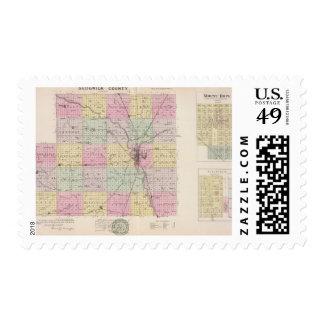 El condado de Sedgwick, esperanza del soporte, y Timbre Postal