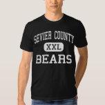 El condado de Sevier - osos - alto - Sevierville Playera