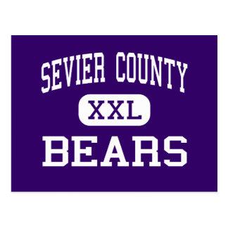 El condado de Sevier - osos - alto - Sevierville Tarjeta Postal