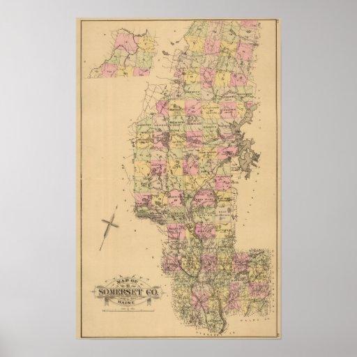El condado de Somerset, Maine Póster