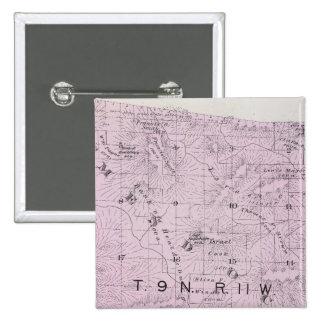 El condado de Sonoma, California 11 Pin Cuadrada 5 Cm