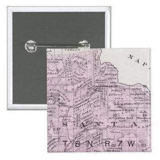 El condado de Sonoma, California 12 Pin Cuadrada 5 Cm