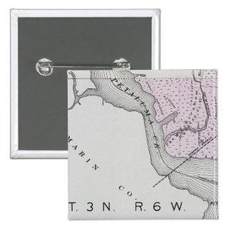 El condado de Sonoma, California 13 Pin Cuadrada 5 Cm