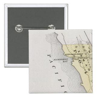 El condado de Sonoma, California 14 Pin Cuadrada 5 Cm