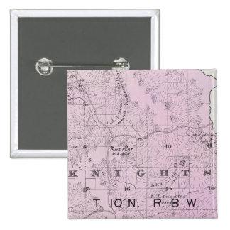 El condado de Sonoma, California 17 Pin Cuadrada 5 Cm