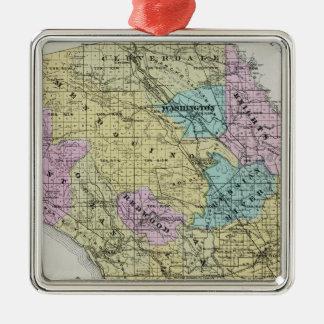 El condado de Sonoma, California 18 Adorno Navideño Cuadrado De Metal
