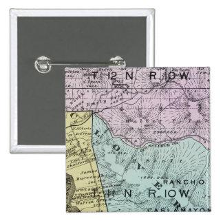 El condado de Sonoma, California 18 Pin Cuadrada 5 Cm