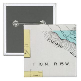 El condado de Sonoma, California 19 Pin Cuadrada 5 Cm