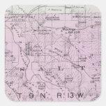 El condado de Sonoma, California 20 Calcomanía Cuadradas Personalizadas