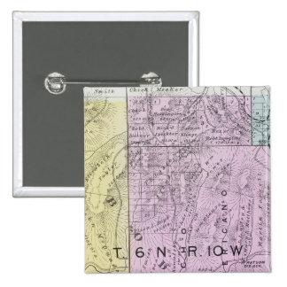 El condado de Sonoma, California 21 Pin Cuadrada 5 Cm