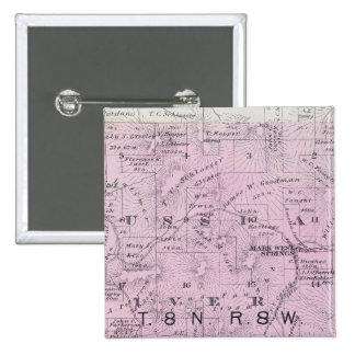 El condado de Sonoma, California 23 Pin Cuadrada 5 Cm