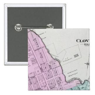 El condado de Sonoma, California 26 Pin Cuadrada 5 Cm