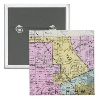 El condado de Sonoma, California 27 Pin Cuadrada 5 Cm