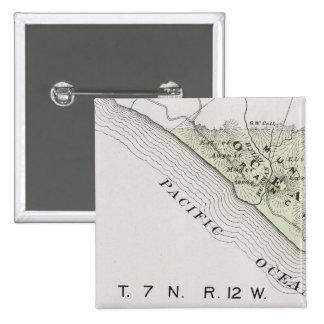 El condado de Sonoma, California 28 Pin Cuadrada 5 Cm