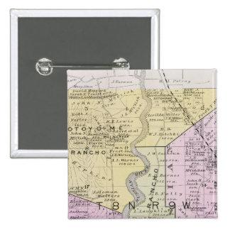 El condado de Sonoma, California 2 Pin Cuadrada 5 Cm